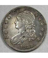 1832 Capped Bust Silver Half Dollar AU Details Coin AG43 - $298.79