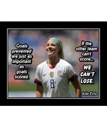 Soccer Motivational Wall Art Julie Ertz Inspirational 'CAN'T LOSE' Quote... - $19.99+