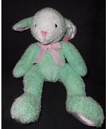 Target Gund Easter Bunny Rabbit Plush Stuffed Animal Pastel Mint Green S... - $29.67