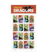 USPS Dragons Sheet of 16 Forever Stamps - $9.99