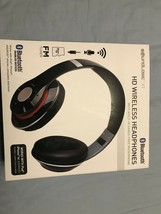 SoundLogic BFHM-12/6708 FOLDABLE HD BLUETOOTH HEADPHONE Black-Brand New