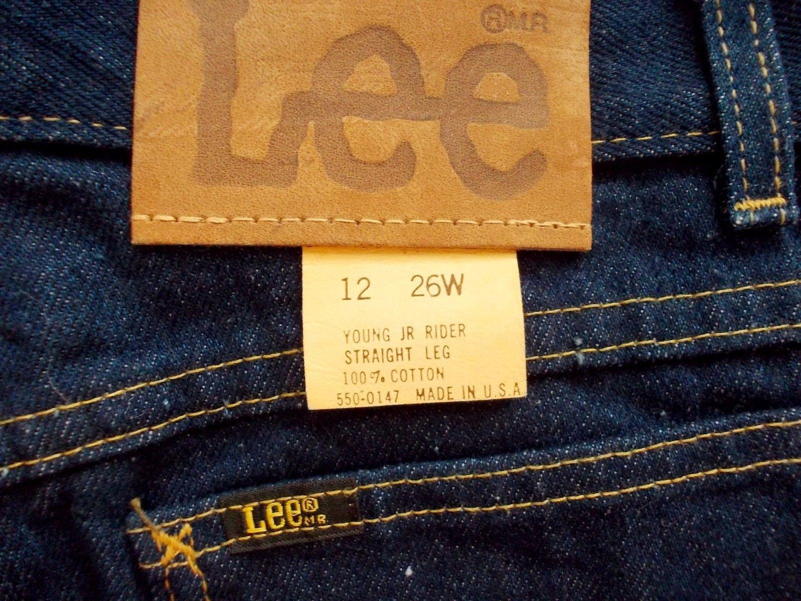 5e21ebc8 Vintage Lee Young Juniors Jeans Sz 12 26/34 Riders 100% Cotton Straight Leg