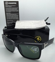 Authentic VONZIPPER Sunglasses VZ ELMORE Shiny Black frame w/Vintage Gre... - $99.95