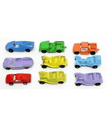 Lot Of 9 Vintage Tootsie Toy Metal Cars And Trucks FAST  FREE SHIPPING - $19.85