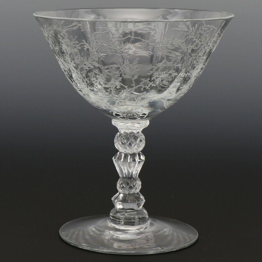 Fostoria Crystal Chintz Goblet Low Footed Sherbet Elegant American Glass