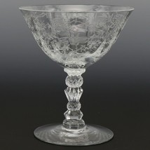 Fostoria Crystal Chintz Goblet Low Footed Sherbet Elegant American Glass image 1