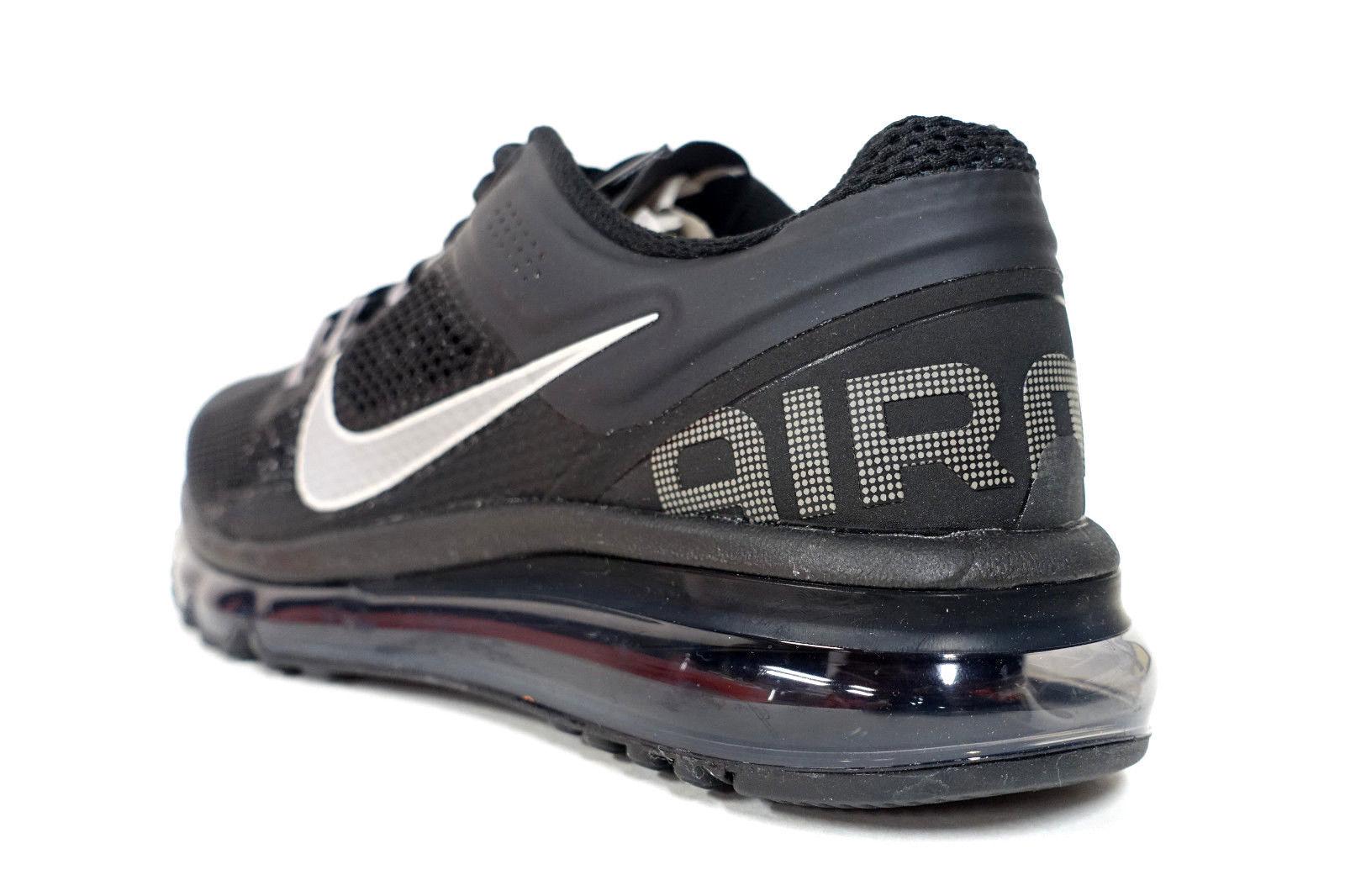 69e12890bea3 NIKE pour FEMMES Air Max + 2013 Chaussures Pointure 7 Noir Gris Argenté  555363