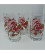 "1980 Vintage Strawberry Shortcake Glasses American Greetings 6"" Lot of 4 - $41.68"