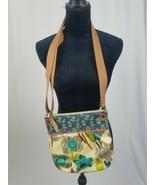 Fossil key-per cross body purse handbag floral - $34.65