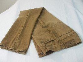 Vintage Ralph Lauren Jeans Womens 6P Brown Mocha Denim Pants Brass Beaded Sides - $25.00