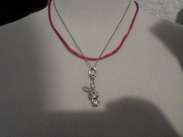 Betsey Johnson Rabbit Pave 3 Way Charm Necklace Nwt - $30.00