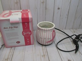 L5 Scentsy Love Life Hope Warmer Breast Cancer Base only  - $24.74