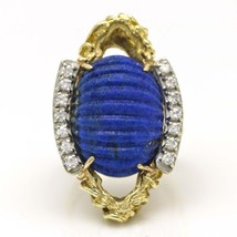 Lapis Lazuli Oval Statement Ring in 14k Yellow Gold - $1,628.55