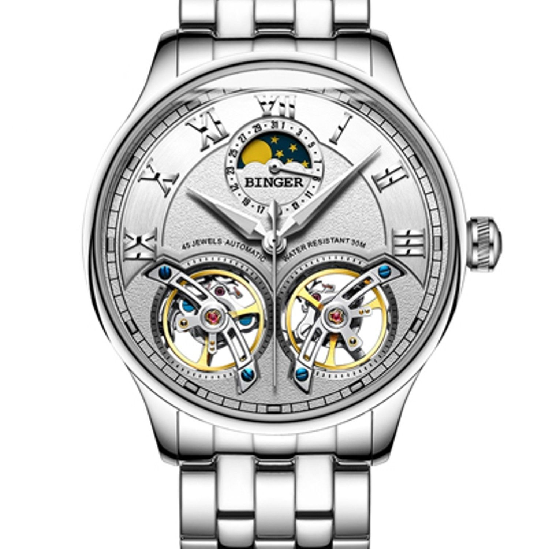Automatic Mechanical Luxury Skeleton Tourbillon Swiss Wrist Sapphire Watch Men S