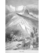 OREGON Siskiyou Mountains Pilot Knob - 1883 German Print - $16.20