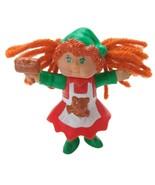 Vintage 1980's Cabbage Patch Kids Elf Figurine Hammer Christmas Teddy Bear - $9.90