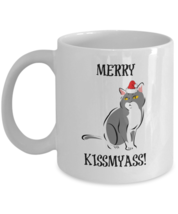 Funny Christmas Mug, Merry Kissmyass, 11oz White Ceramic Coffee, Tea Cup - $19.79