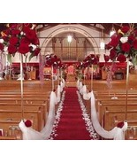 Red Aisle Runner, Solid Red, Sizes 25 30 35 40 45 50 ft, Wedding, Bridal... - $79.00