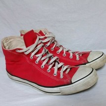 VTG Converse Chuck Taylor All Star Hi Top Sneakers Made In USA Shoes Red 80s 13 - $74.99