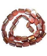 MP1814 Red Medium 10mm - 12mm Tri-Tip Nugget Mother of Pearl Shell Beads... - $6.58