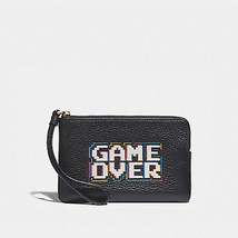 Coach X Pac-Man Game Over Leather Zip Wristlet NWT F73399 ( Factory Sealed) - $35.99