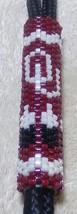 Native American Landyard OU SOONERS Glass Beads Cherokee Oklahoma Univer... - $29.99