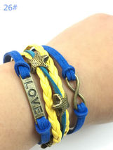 << BRAIDED STRAP BRACELET  **LOVE INFINITY** >>  WE COMBINE SHIPPING - $3.75