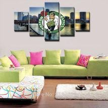 5pcs boston celtics team sport printed canvas wall art picture home decor  thumb200