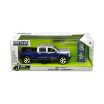 2014 Chevrolet Silverado Blue and Silver Pickup Truck with Extra Wheels ... - $39.48