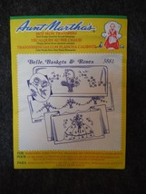 Aunt Martha's Hot Iron Transfers 3881 Belle, Baskets and Roses - $3.59