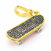 Juicy Couture Charm Crystal Skateboard Goldtone NEW - $87.12