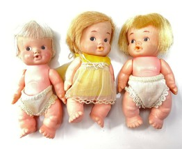 3 1960s Uneeda Doll Baby Peewee dolls - $14.84