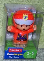 "Fisher Price Little People Pilot Louis Figure 2.5""H New - $6.88"