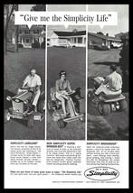 Simplicity Riding Tractor Lawnmower 1965 AD Landlord Wonder-Boy Broadmoo... - $9.99