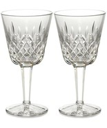 Waterford Lismore Claret Wine Pair Glasses 60th Anniversary #154038 New ... - $134.90