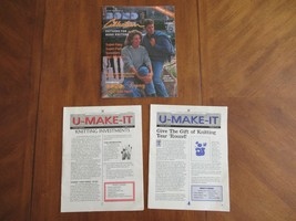 Sweater Machine Pattern Bond Collection Magazine + U-Make-It Newsletter - $12.99