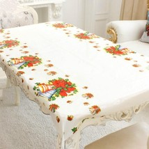 Christmas Tablecloth Rectangular Pvc Party Table Covers New Year Home Ki... - $0.91+