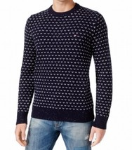 Tommy Hilfiger Men's Geometric Pullover Crew Knit Sweater Navy NWT size 3XL - $48.99