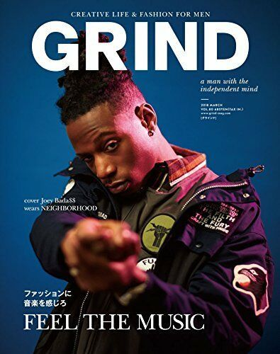 Primary image for GRIND March 2018 Men's Fashion Magazine Japan Book FEEL THE MUSIC