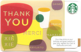 Starbucks 2011 Thank You Collectible Gift Card New No Value - $1.99