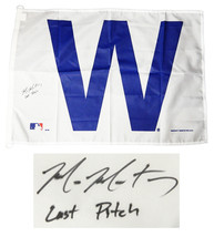MIKE MONTGOMERY Signed Chicago Cubs 27x37 White 'W' Flag w/Last Pitch - ... - $117.81