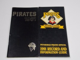 Pittsburgh Pirates Press Media Guide Lot 1981 & 1991 - $2.25