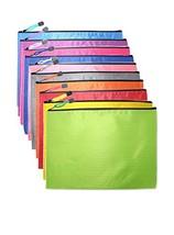 OMIMYY Waterproof Zipper File Bags Fabric Zip File Bags Football Pattern Zip Fil