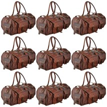 Real Goat Leather Men Travel Wheel Luggage Suitcase Duffle Classic Tote ... - $372.05