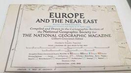 Vintage Lot (22) National Geographic Map World 1949 - 1955 image 4