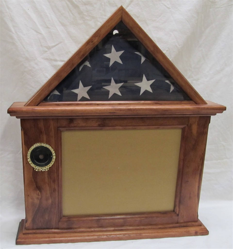 Primary image for Flag & Certificate Display Case 3x5 flag - 8-1/2 x 11 Frame, Freestanding / Wall