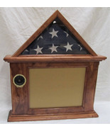 Flag & Certificate Display Case 3x5 flag - 8-1/2 x 11 Frame, Freestanding / Wall - $158.00