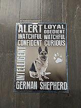 "16"" German Sheperd DOG Traits 3d cutout pup USA STEEL plate display ad Sign - $68.60"