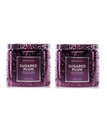 Slatkin Scentworx Sugared Plum 3 Wick Candle 14.5 oz each - Lot of 2 - $44.99