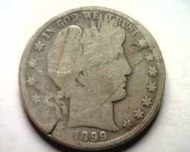 1899 Barber Half Dollar With Cool Strike Though On Both Sides Nice Original Coin - $29.00